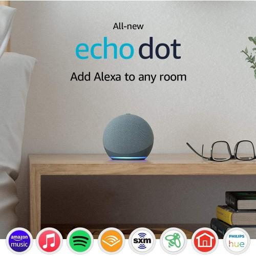 Echo Dot 4 Gen., Altavoz Inteligente con Alexa, Azul Crepúsculo en Santiago