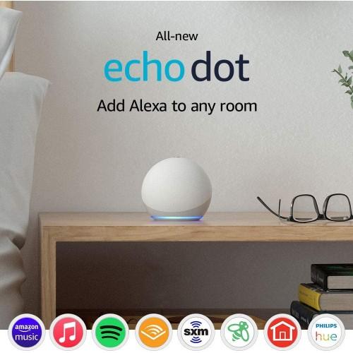 Echo Dot 4 Gen., Altavoz Inteligente con Alexa, Blanco Glaciar en Santiago