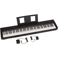 Teclado Yamaha P71 88-Key Weighted Action Digital Piano with Sustain Pedal and Power Supply