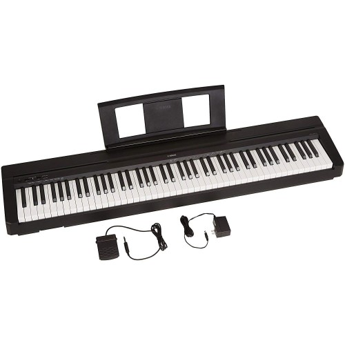 Yamaha P71 88-Key Piano digital de acción ponderada con pedal de sostenido y fuente de alimentación