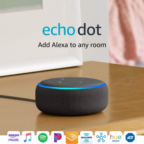 Echo Dot (3nd Generation) - Parlante Inteligente con Alexa - Color Carbón