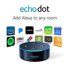 Echo Dot (2nd Generation) - Parlante Inteligente con Alexa - Color Negro